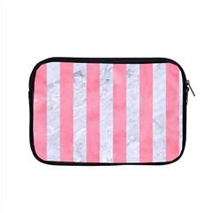Stripes1 White Marble & Pink Watercolor Apple Macbook Pro 15  Zipper Case