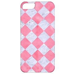Square2 White Marble & Pink Watercolor Apple Iphone 5 Classic Hardshell Case