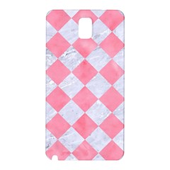 Square2 White Marble & Pink Watercolor Samsung Galaxy Note 3 N9005 Hardshell Back Case by trendistuff