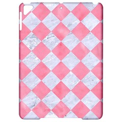 Square2 White Marble & Pink Watercolor Apple Ipad Pro 9 7   Hardshell Case by trendistuff