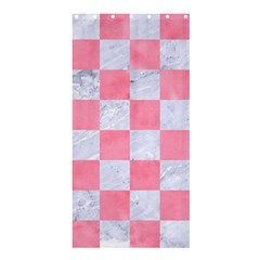Square1 White Marble & Pink Watercolor Shower Curtain 36  X 72  (stall)