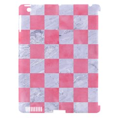 Square1 White Marble & Pink Watercolor Apple Ipad 3/4 Hardshell Case (compatible With Smart Cover)