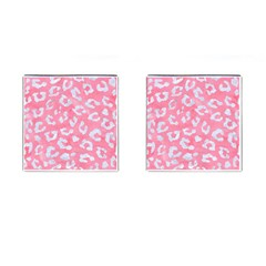 Skin5 White Marble & Pink Watercolor (r) Cufflinks (square)