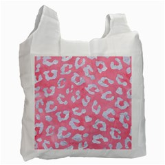 Skin5 White Marble & Pink Watercolor (r) Recycle Bag (one Side)