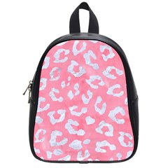 Skin5 White Marble & Pink Watercolor (r) School Bag (small) by trendistuff