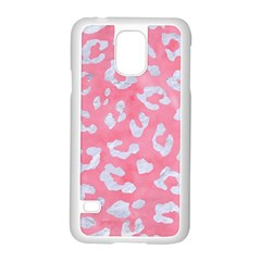 Skin5 White Marble & Pink Watercolor (r) Samsung Galaxy S5 Case (white)