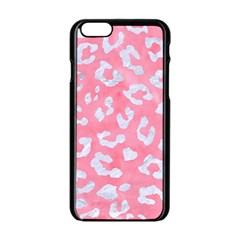 Skin5 White Marble & Pink Watercolor (r) Apple Iphone 6/6s Black Enamel Case