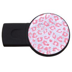 Skin5 White Marble & Pink Watercolor Usb Flash Drive Round (4 Gb)