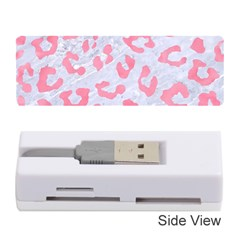 Skin5 White Marble & Pink Watercolor Memory Card Reader (stick)