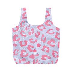 Skin5 White Marble & Pink Watercolor Full Print Recycle Bags (m)