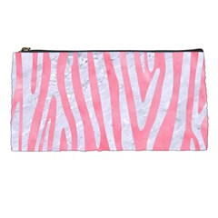 Skin4 White Marble & Pink Watercolor (r) Pencil Cases