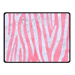 Skin4 White Marble & Pink Watercolor (r) Fleece Blanket (small)