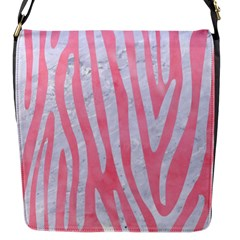 Skin4 White Marble & Pink Watercolor (r) Flap Messenger Bag (s)