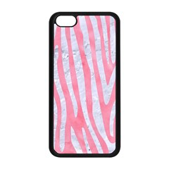 Skin4 White Marble & Pink Watercolor (r) Apple Iphone 5c Seamless Case (black)