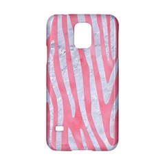 Skin4 White Marble & Pink Watercolor (r) Samsung Galaxy S5 Hardshell Case