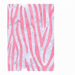 Skin4 White Marble & Pink Watercolor Small Garden Flag (two Sides) by trendistuff