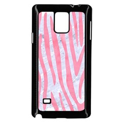Skin4 White Marble & Pink Watercolor Samsung Galaxy Note 4 Case (black)