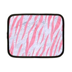 Skin3 White Marble & Pink Watercolor (r) Netbook Case (small)