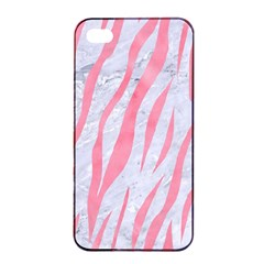Skin3 White Marble & Pink Watercolor (r) Apple Iphone 4/4s Seamless Case (black)
