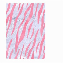 Skin3 White Marble & Pink Watercolor (r) Large Garden Flag (two Sides)
