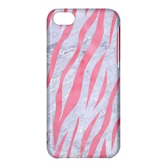 Skin3 White Marble & Pink Watercolor (r) Apple Iphone 5c Hardshell Case by trendistuff