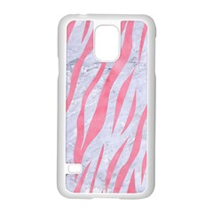 Skin3 White Marble & Pink Watercolor (r) Samsung Galaxy S5 Case (white)