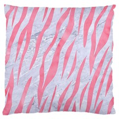 Skin3 White Marble & Pink Watercolor (r) Standard Flano Cushion Case (one Side)