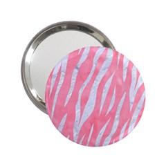 Skin3 White Marble & Pink Watercolor 2 25  Handbag Mirrors by trendistuff