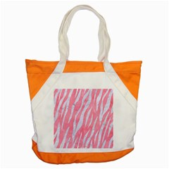 Skin3 White Marble & Pink Watercolor Accent Tote Bag by trendistuff