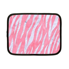 Skin3 White Marble & Pink Watercolor Netbook Case (small)