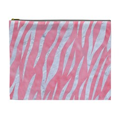 Skin3 White Marble & Pink Watercolor Cosmetic Bag (xl)