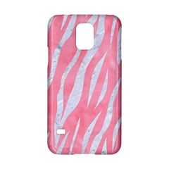 Skin3 White Marble & Pink Watercolor Samsung Galaxy S5 Hardshell Case  by trendistuff