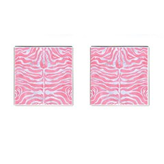 Skin2 White Marble & Pink Watercolor Cufflinks (square)