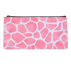 Skin1 White Marble & Pink Watercolor (r) Pencil Cases