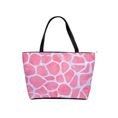 Skin1 White Marble & Pink Watercolor (r) Shoulder Handbags