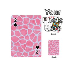 Skin1 White Marble & Pink Watercolor (r) Playing Cards 54 (mini)