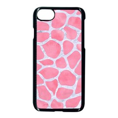 Skin1 White Marble & Pink Watercolor (r) Apple Iphone 7 Seamless Case (black)
