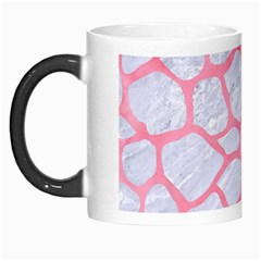 Skin1 White Marble & Pink Watercolor Morph Mugs