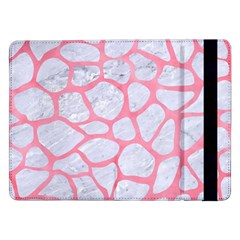 Skin1 White Marble & Pink Watercolor Samsung Galaxy Tab Pro 12 2  Flip Case
