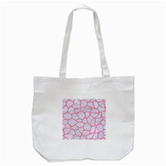 Skin1 White Marble & Pink Watercolor Tote Bag (white)