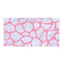 Skin1 White Marble & Pink Watercolor Satin Wrap