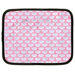 Scales3 White Marble & Pink Watercolor (r) Netbook Case (xxl)