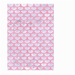 Scales3 White Marble & Pink Watercolor (r) Large Garden Flag (two Sides)