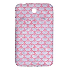 Scales3 White Marble & Pink Watercolor (r) Samsung Galaxy Tab 3 (7 ) P3200 Hardshell Case