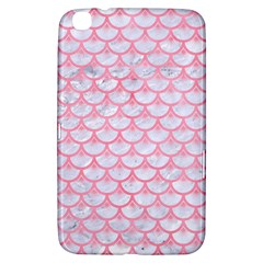 Scales3 White Marble & Pink Watercolor (r) Samsung Galaxy Tab 3 (8 ) T3100 Hardshell Case  by trendistuff