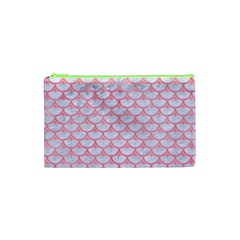 Scales3 White Marble & Pink Watercolor (r) Cosmetic Bag (xs)