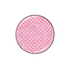 Scales3 White Marble & Pink Watercolor Hat Clip Ball Marker (10 Pack) by trendistuff