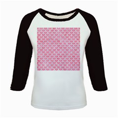 Scales3 White Marble & Pink Watercolor Kids Baseball Jerseys