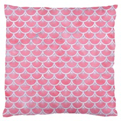 Scales3 White Marble & Pink Watercolor Standard Flano Cushion Case (one Side)