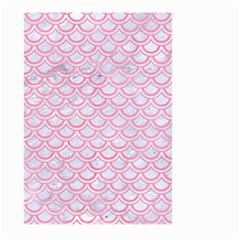 Scales2 White Marble & Pink Watercolor (r) Large Garden Flag (two Sides) by trendistuff